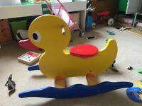 Pintoy Wooden Rocking Duck