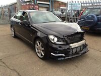 2012 MERCEDES-BENZ C250 CDI AUTO AMG SPORT BLUEEFFI-C SALVAGE DAMAGED REPAIRABLE C220 C350 E220 E250