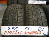 matching set of 255 50 20 PIRELLI SCORPIONS 6MM TREAD £50 EACH SUPP & FITD OR £180 SET OF 4 (7DAYS)