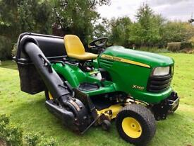 "John Deere X740 Ride on mower - 48"" deck - 3 bag collector"