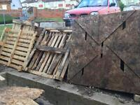 Assorted pallets free to collector