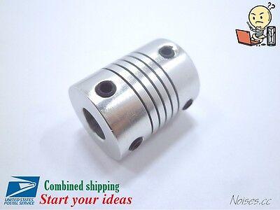 Aluminum Flexible Shaft Coupler 56.358mm To 56.35810mm Cnc Reprap 3dprinter
