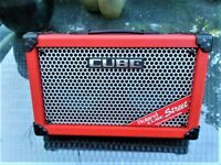 ROLAND STREET CUBE PORTABLE GUITAR BUSKING AMP+POWER SUPPLY AND BOX