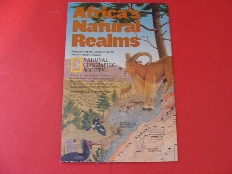 National Geographic Society Map 2001 Africa