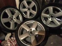 Audi S line alloy wheels refurbished with new tyres