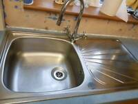 Large kitchen sink and tap as new