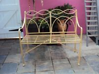 DECORATIVE METAL GARDEN BENCH