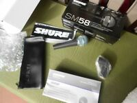 Brand new shure sm58 microphone