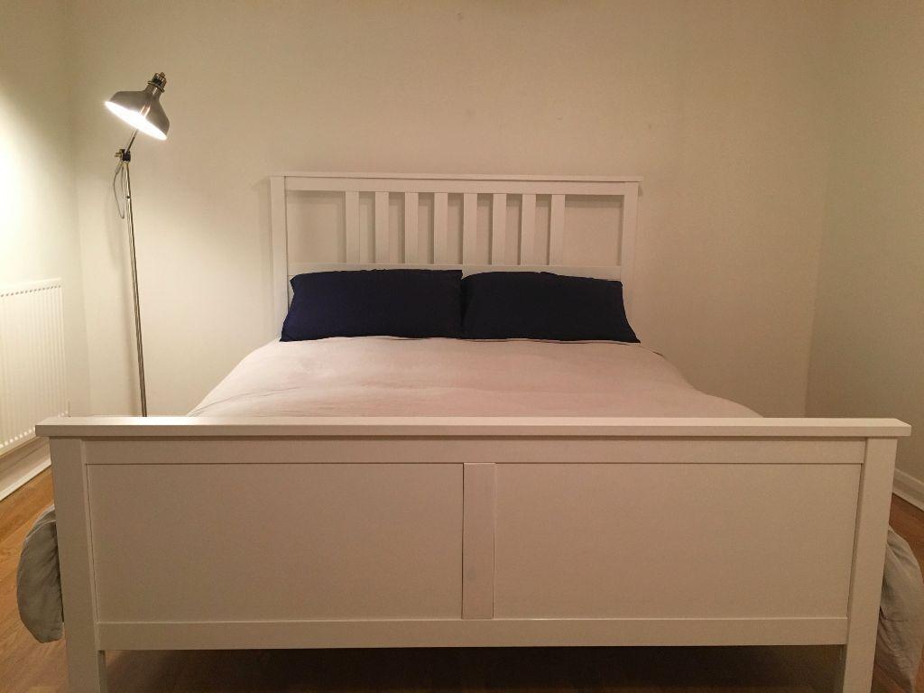 Ikea Hemnes Bed Frame Standard King White New