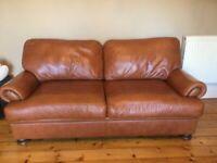 2 John Lewis Córdoba brown leather sofas