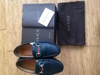 GENUINE GUCCI GREEN/RED/GREEN LOAFERS!