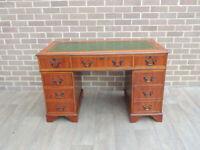 "Unique Burr Pedestal Desk ""Ref 113"" (UK Delivery)"