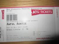 Single Ticket Awful Auntie New Alex Birmingham Sunday 26 Nov 15:00
