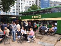Bearritos Team Supervisor - Mexican food on our bus in the Bearpit, Bristol