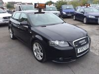 Audi A3 2.0 TDI S Line Sportback Quattro 5dr QUATTRO+LEATHER+F.S.H+2OWNERS 2007 (57 reg), Hatchback