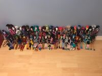 53 monster high dolls (rares included)