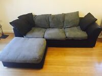 Sofa with removable chase longue. 2,4 metres long
