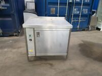 commercial hot cupboard stainless steal work top single door 1000mm excellent A+
