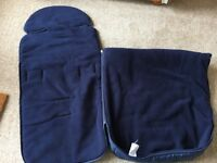 Navy, showerproof cosytoes that fit any standard pushchair