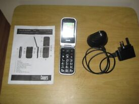 Coopers Ondial Easy Use Flip Top Mobile Phone With Large Buttons.