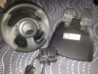 Microsoft USB steering wheel and Pedals