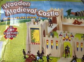 Wooden Medievil Castle 33 pieces