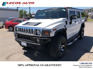 2005 Hummer H2 Black leather interior Sun roof