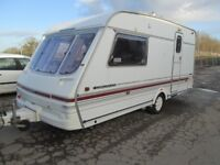 swift challenger 470 se two berth touring caravan, 1996 lightweight and well equipped with extra's.