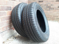 2 nearly new Falken car tyres 195/65/R15 - 4 days use