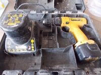 Dewalt 9.6 volt drill with 2 batterys and charger both batterys seam to hold charge