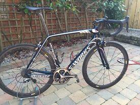 Specialized S-Works Tarmac carbon fibre Nibali Custom build bike limited edition 58cm