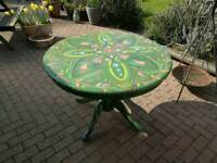 Wooden hand painted table