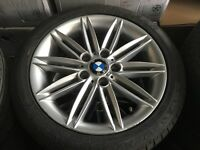 """BMW 1 series e87 coupe alloy wheels 17"""" spyders genuine staggered wheels 5120 fits BMW se m sport"""