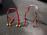 New motorcycle front and rear paddock stands