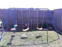 Swings and seesaw set