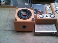 Stereo system 5 speakers 1 amp and sub