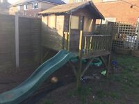 Kids play house wth slide