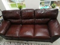 Laura Ashley Designer Leather Sofa