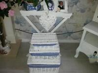 Three lovely shabby chic basket