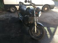 Cbf 600 good bike had had a verry low speed drop 50somethinf thousand miles on clock renthal bar ect