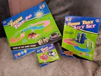 Light up Turbo Trax set includes lift and aditional cars