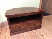 TV stand / media unit - solid wood - John Lewis