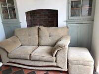 Two Seat Sofa & Foot Stool