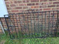 Pair metal garden gates