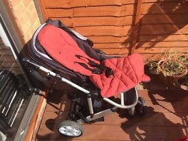 Mamas and Papas Zoom Pushchair with Carrycot And Car Seat