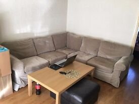 IKEA fabric CORNER SOFA in excellent condition - new cover // free delivery