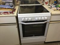 Indesit freestanding Electric cooker ceramic hob