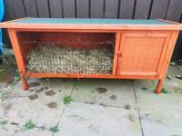 Rabbit and Rabbit Hutch cage