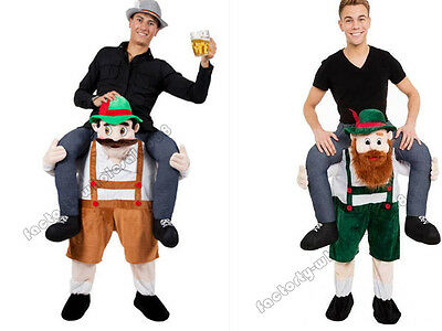 Halloween Carry Bavarian Beer Guy Ride On Oktoberfest Mascot Costume Adult Dress