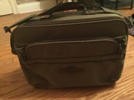 Camel overnight khaki bag with briefcase section